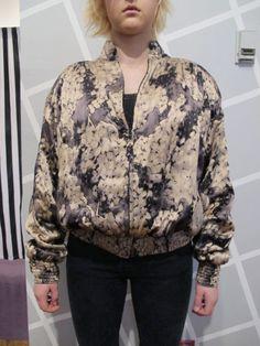80s Laura Biagiotti Silk Abstract floral Windbreaker by kokorokoko, $70.00