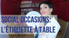 L'etiquette a table