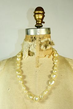 Faux Pearl Necklace by CassandrasBridalshop on Etsy