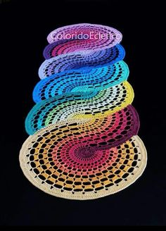 Swirl Rainbow Rug More - Crocheting Journal josettacay : Photo, would love to figure out how to make this. Haken pic only To get the a crochet pattern from just a photo, zoom in and convert to a chart! Haken love the colors looking for unusual afghan Crochet Art, Crochet Home, Thread Crochet, Crochet Motif, Crochet Designs, Crochet Crafts, Crochet Doilies, Crochet Stitches, Crochet Projects
