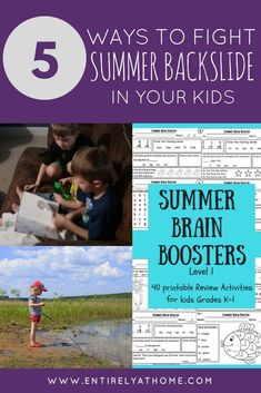 Here are some great ideas for your kids for summer break to make sure they keep on learning! #summerbreak #homeschool #summerslide #summerlearning #homeschooling