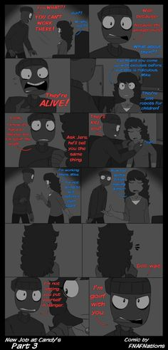 [Comic - Unfinished] New Job at Candy's Artist: FNAFNations AU/Design: Rebornica All credits go to Rebornica and who drew them, FNAFNations! Fnaf Story, Markiplier Fnaf, Jeremy Fitzgerald, Vincent Fnaf, Ill Stand By You, Fnaf Night Guards, Pokemon, Freddy 's, Fnaf Drawings