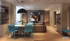 Бежевая квартирка: интерьер, квартира, дом, гостиная, современный, модернизм, 100 - 200 м2 #interiordesign #apartment #house #livingroom #lounge #drawingroom #parlor #salon #keepingroom #sittingroom #receptionroom #parlour #modern #100_200m2 arXip.com