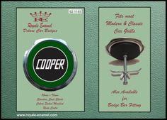 Royale-Classic-Car-Grill-Badge-Fittings-MINI-COOPER-GREEN-B2-1185