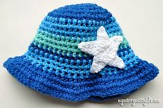 Crochet this toddler boy sun hat for free!