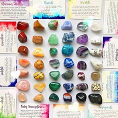 Something you may not know about our shop: each individual crystal you purchase comes with its own info card making our shop perfect for gifts for any occasion. Did you think about a friend today? Send them some love in healing form. Crystals Minerals, Rocks And Minerals, Crystals And Gemstones, Crystal Names, Crystal Meanings, Unicorns And Mermaids, Stone Pictures, Rocks And Gems, Rock Crafts