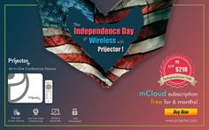 Don't let the fireworks be the only thing sparkling this fourth of July – you can too with the perfect conference room solution. Make your #presentations and #video_conferencing easier than ever before. Free shipping + 6 months mCloud subscription free #IndependenceDay Sale #4thjuly  ✓ know more: www.prijector.com Fourth Of July, Independence Day, Fireworks, 6 Months, Conference Room, Presentation, Technology, Make It Yourself