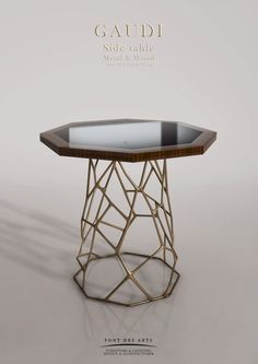 Gaudi Table - Bronze And Marble - Pont des Arts - Monzer Hammoud - Designer - Paris - Side table Art Furniture, Design Furniture, Luxury Furniture, Modern Furniture, Side Coffee Table, Side Tables, Metal Tables, Dining Area Design, Luxury Chairs
