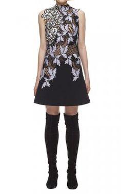 ccdb534cef0 Asymmetric Self Portrait Lila Mini Short Lace Dress