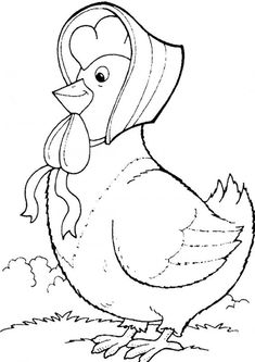 Chicken Coloring Pages, Farm Coloring Pages, Dinosaur Coloring Pages, Coloring Pages For Boys, Free Printable Coloring Pages, Embroidery Patterns, Hand Embroidery, Easter Bunny Colouring, Embroidery