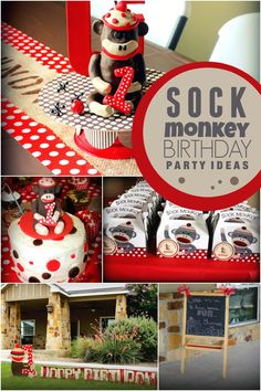A Sock Monkey Themed 1st Birthday Party - Spaceships and Laser Beams