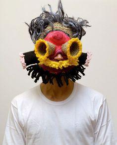 """Crochet Revolutionary Cap"" Design: Aldo Lanzini / Photography: Ivan Albertazz. From Pretty Ugly: Visual Rebellion in Design #book Published by #Gestalten   http://shop.gestalten.com/pretty-ugly.html"