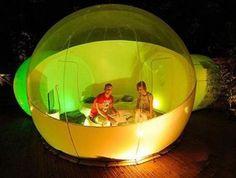 Bubble Tent incl. Led und Zubehör - 2 Eingänge - Durchmesser 4m - Luft Zelt in Sport, Camping & Outdoor, Zelte & Strandmuscheln | eBay
