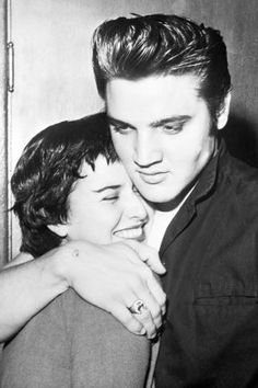 Elvis and June Juanico, 1956.