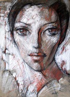 OUDOT Georges (Chaumont, 1928 -  Besançon, 2004). Portrait de jeune