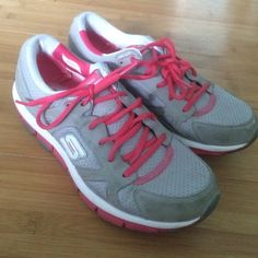 Sketchers shape ups Sketchers shape ups liv. Pink and gray color. They have been lately loved but still have a lot of life in them. Skechers Shoes Sneakers