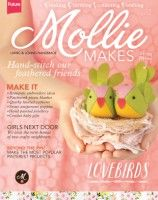Mollie Makes Magazine Craft Collecting Thrifting Felt Handmade Sewing Issue 36 Vintage Embroidery, Embroidery Patterns, Embroidery Stitches, Mollie Makes, Sewing Magazines, Lazy Daisy Stitch, Knitted Cushions, Magazine Crafts, Craft Online