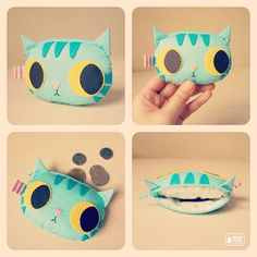 Blue Mint coin purse by mochikaka, via Flickr