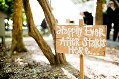 creative wedding ceremony signs