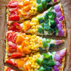 This looks absolutely devine... i have done the cauliflower crust before. I really love the way the color here POPS!!