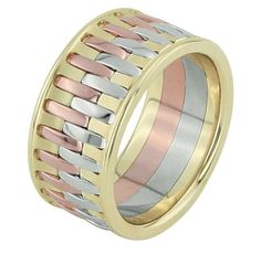 Tri Color Wedding Band - $1,997