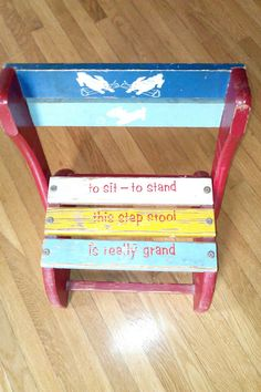 Chippy Shabby Chic Baby/ Child's Chair / by JulesCristenVintage, $37.00