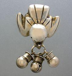 Brooch   William Spratling. 'Bird Bells'  Sterling silver.  ca. 1950s