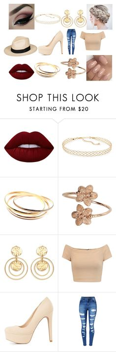 """""""Untitled #460"""" by megibson2005 on Polyvore featuring Anastasia Beverly Hills, Lime Crime, Panacea, Cartier, Kenneth Jay Lane, Alice + Olivia, Charlotte Russe, WithChic and Roxy"""