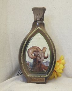 Check out Vintage Collectible Jim Beam Choice Kentucky Bourbon Decanter Bottle, Wildlife Bighorn Sheep, by James Lockhart, Artist,NEW LISTING!!#VB7166 on ckdesignsforyou