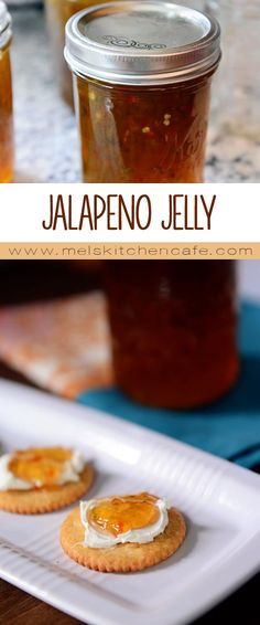 Jelly Jalapeno Jelly {a. Hot Pepper Jelly} Plus a Step-by-Step Canning TutorialJalapeno Jelly {a. Hot Pepper Jelly} Plus a Step-by-Step Canning Tutorial Pepper Jelly Recipes, Hot Pepper Jelly, Jalapeno Jelly Recipe Sure Jell, Jalapeno Pepper Jelly, Jalapeno Jam, Jam Recipes, Canning Recipes, Tuna Recipes, Recipies