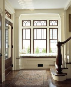 dark windows white baseboards - Google Search