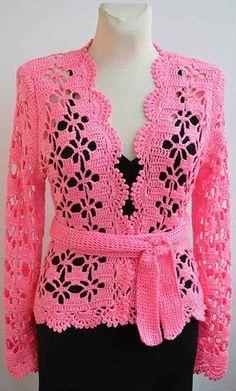 Chaqueta Ganchillo Punto Calado Con Explicación Para Tejerlo Paso A Paso Chaqueta De Ganchillo Vestidos De Ganchillo Ropa Crochet