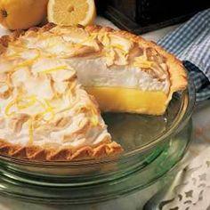 World's Best Lemon Pie Potluck Desserts, Lemon Desserts, Lemon Recipes, Pie Recipes, Just Desserts, Dessert Recipes, Cooking Recipes, Recipies, Italian Desserts