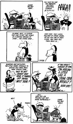 Yes Opus, the Military Industrial Complex makes us all feel that way sometimes.(Bloom County by Berkeley Breathed) Bill The Cat, Berkeley Breathed, Political Comics, Far Side Cartoons, Tax Preparation, Cheer Me Up, Tax Refund, Seriously Funny, Classic Comics