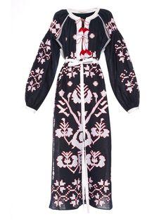 Tree-embroidered long dress | Vita Kin | MATCHESFASHION.COM