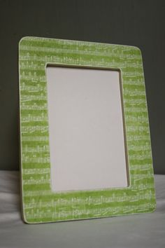 4x6 Green Sheet music picture frame by TipToeDesign on Etsy, $10.00