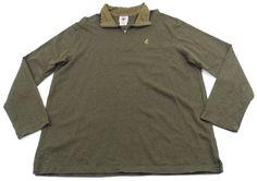 Disney Cruise Line Mickey Mouse 1/2 Zip Sweatshirt Pullover Green Mens Size 3XL #Disney #12Zip