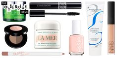 12 Beauty Products Elle Editors Can't Live Without - yes to a lot of these (that Essie nail polish, the Anastasia brow duo, Diorshow is always a classic)