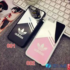 アディダス ブラック&ピンク adidas iphone5sケース 鏡付きで、ファッション性と実用性を兼ね備えた人気のペアケースが登場! by zaecase
