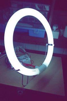 cheap diy lighting. Cami Sousa : DIY: RING LIGHT CASEIRA Cheap Diy Lighting