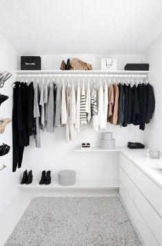 New walk in closet remodel clothes ideas Dressing Room Decor, Dressing Room Design, Dressing Rooms, Ikea Closet, Closet Bedroom, Diy Bedroom, Closet Wall, Bedroom Black, Closet Space