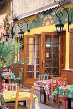 French provencal cafe - I want to have my morning coffee there!