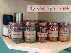 The Forge: diy: spice jar labels