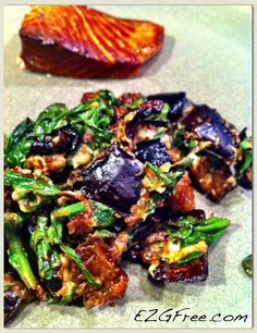 Eggplant salad with salmon.004