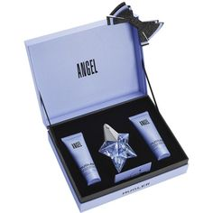 The Angel Celestial Set contains an Eau de Parfum 25 mL Refillable, a 50 mL Perfuming Body Lotion and a 50 mL Perfuming Shower Gel.