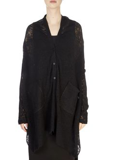 This is the 'Zoni' Long Black Merino Cardigan by our friends at XD Xenia Design! Make a statement this season with the Xenia Design. Boasting a beautiful design, this cardigan features a long body, sheer look, and a lovely loose fit. Xenia Design, Split Skirt, Tube Skirt, Black Lace Tops, Long Black, Fabric Design, Kimono Top, Tunic Tops, Loose Fit