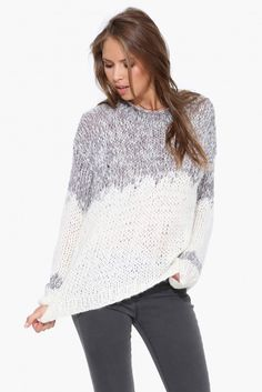 Isabel Knit Sweater in Heather grey | Necessary Clothing