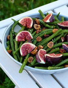 Chic, chic, chocolat...: Salade de haricots verts, figues et noisettes