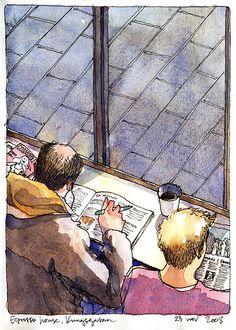 espresso_house_kungsg by nina drawing, via Flickr