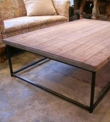 Industrial Coffee palet table c.1930 on metal base